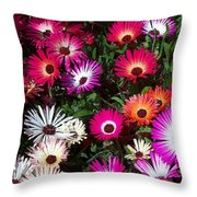 Painted Flowers Throw Pillow