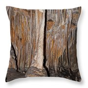 Painted Grotto Carlsbad Caverns National Park Throw Pillow