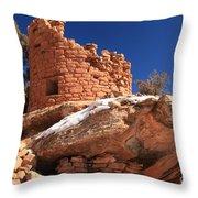 Painted Hand Pueblo Throw Pillow
