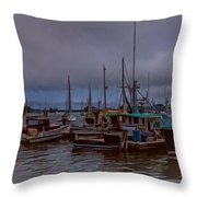 Painted Harbor Throw Pillow
