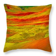 Painted Hills 2 Throw Pillow