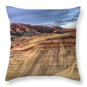Painted Hills In Oregon Panorama Throw Pillow