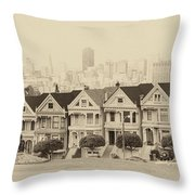 Painted Ladies At Alamo Square Throw Pillow