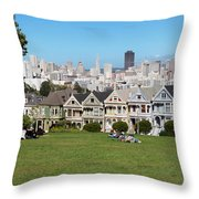 Painted Ladies Throw Pillow