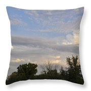 Painted Landscape Throw Pillow