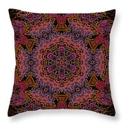 Painted Lobster Kaleido Throw Pillow