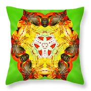 Painted Lotus Xii Throw Pillow