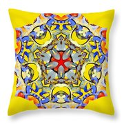 Painted Lotus Xiii Throw Pillow