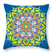 Painted Lotus Xv Throw Pillow