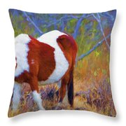 Painted Marsh Mare Throw Pillow