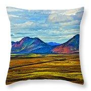 Painted Mountain Throw Pillow