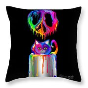 Painted Peace Throw Pillow