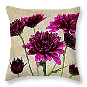 Painted Pink Bouquet Throw Pillow