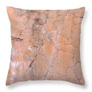 Painted Pink Concrete Throw Pillow