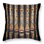 Painted Pipes Throw Pillow