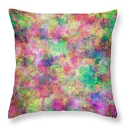 Painted Pixels Throw Pillow