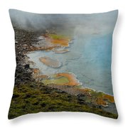 Painted Pool Of Yellowstone Throw Pillow