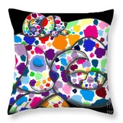 Painted Puppies Throw Pillow by Nick Gustafson