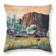 Painted Ranch Throw Pillow