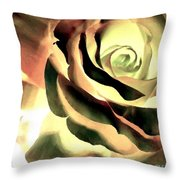 Painted Rose 1 Throw Pillow