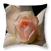 Painted Rose Throw Pillow