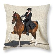 Painted Saddlebred Throw Pillow