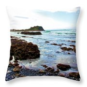 Painted Seascape Throw Pillow