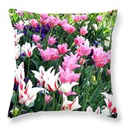 Painted Spring Exhibit Throw Pillow