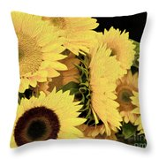 Painted Sunflowers Throw Pillow