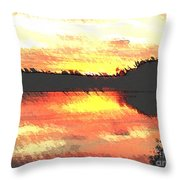 Painted Sunset Throw Pillow