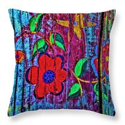 Painted Table Throw Pillow