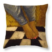 Painted Toe Nails Throw Pillow