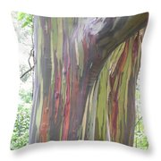 Painted Tree Throw Pillow