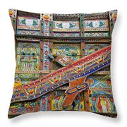 Painted Truck In Pakistan Throw Pillow