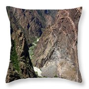 Painted Wall Black Canyon Of The Gunnison Throw Pillow