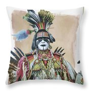 Painted  Warrior  Throw Pillow