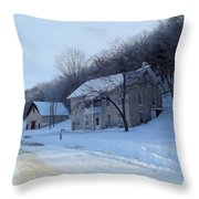 Painted Winter Throw Pillow