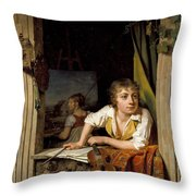 Painting And Music. Portrait Of The Artists Son Throw Pillow