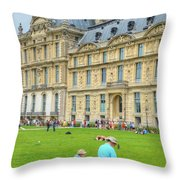 Painting In Paris Throw Pillow