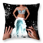 Painting In Real Life Composite Of 5 Photos Throw Pillow