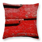 Painting It Red Throw Pillow