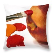 Painting Natures Colors Throw Pillow