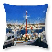 Aegina Port Throw Pillow