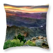 Painting Of Desert View Grand Canyon Throw Pillow