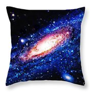 Painting Of Galaxy Throw Pillow