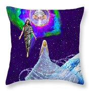 Painting Of The Rapture Of The Church Throw Pillow
