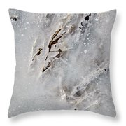 Painting On Ice Throw Pillow