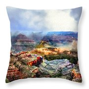 Painting The Grand Canyon Throw Pillow