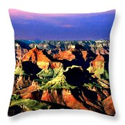 Painting The Grand Canyon National Park Throw Pillow