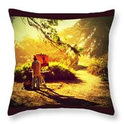Painting The Path Throw Pillow